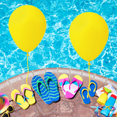 Offer Families swimming pools and slide